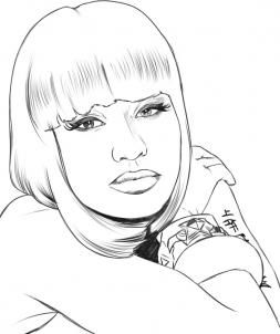 How to draw nicki minaj step by step stars people free online how to draw nicki minaj step by step stars people free online voltagebd Image collections