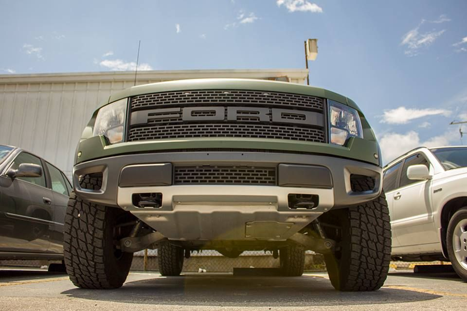 "Ford Raptor F150 ""WRAPTOR"" Matte Military Green Vinyl"