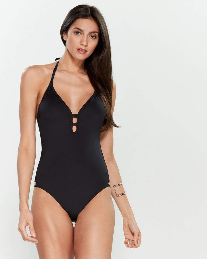 Laundry By Design Crisscross One Piece Swimsuit Products In 2019 One Piece Swimsuit One Piece Swimsuits