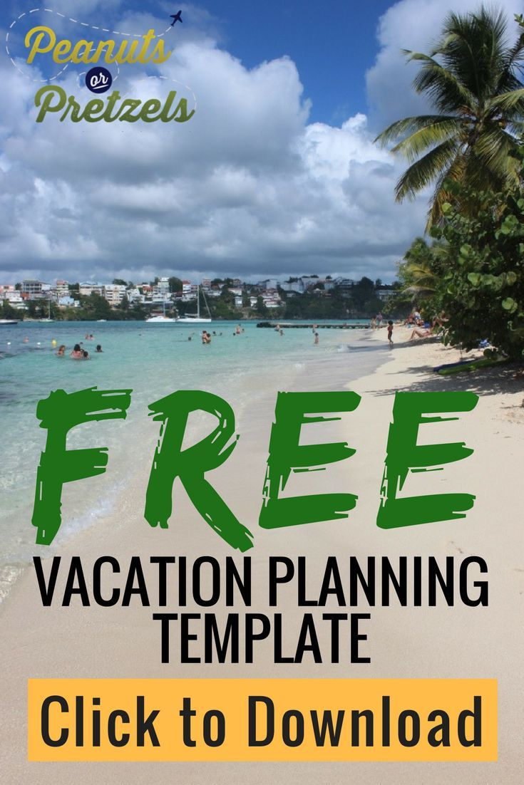 Vacation Planning Template  Free Vacations Vacation And Travel