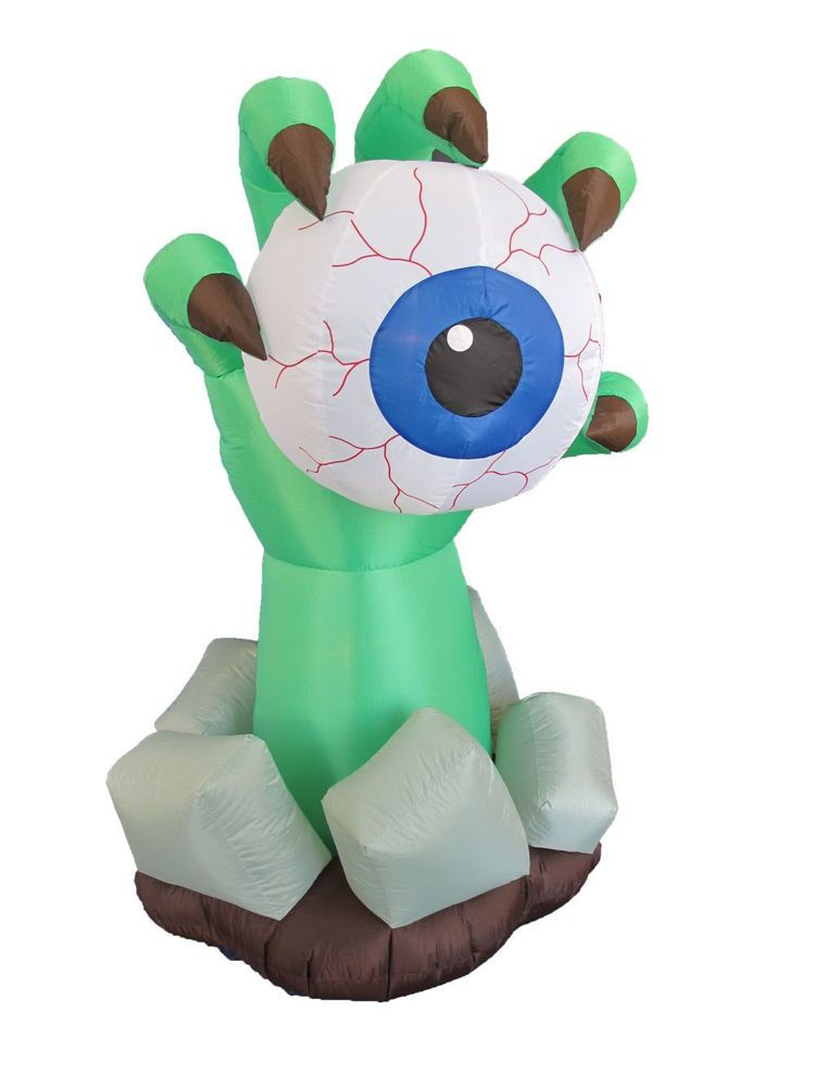 Party Halloween Inflatable Monster Hand Eyeball Yard Outdoor - outdoor inflatable halloween decorations