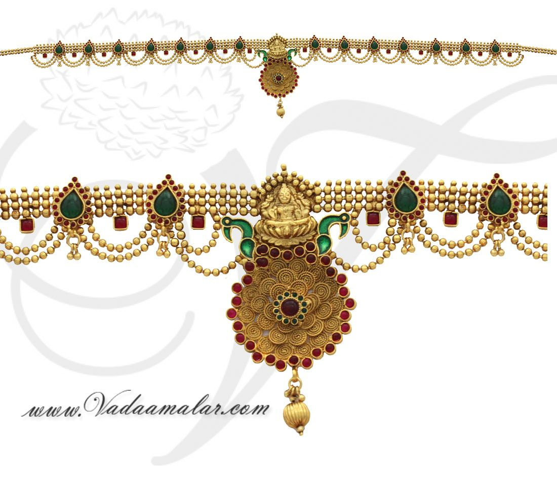 Gold vaddanam oddiyanam kammarpatta waisbelt designs south indian - Antique Lakshmi Design Oddiyanam Kamarpatta Indian Waist Hip Belt Chain Details Https
