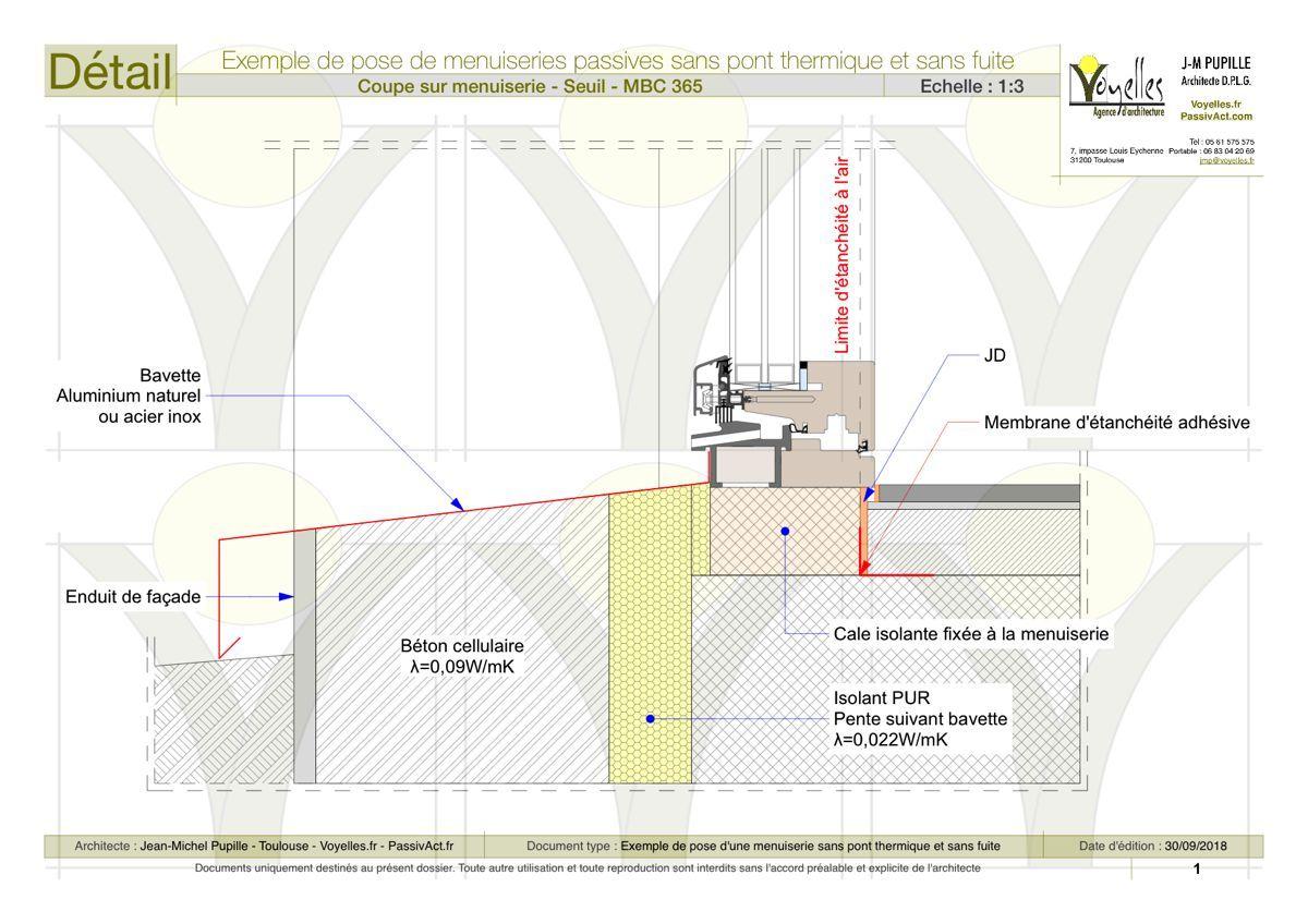 Detail Seuil Beton Cellulaire Beton Cellulaire Pont Thermique Maison Passive