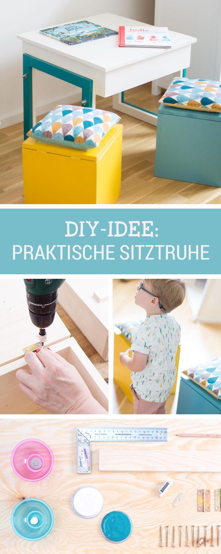 DIY Anleitung: Kleine Sitztruhen Für Kinder Selber Bauen Via DaWanda.com