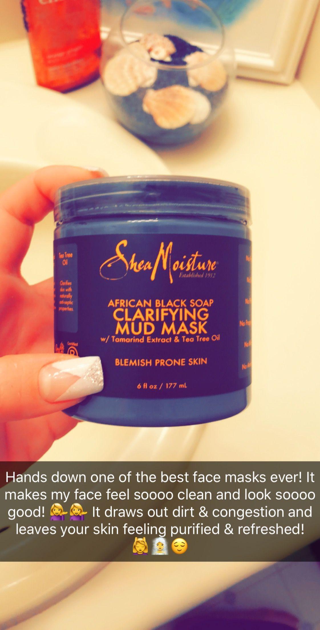 Shea Moisture African Black Soap Clarifying Mid Mask W Tamarind Extract Tea Tee Oil A Shea Moisture Products Shea Moisture Face Mask Oily Skin Care Routine