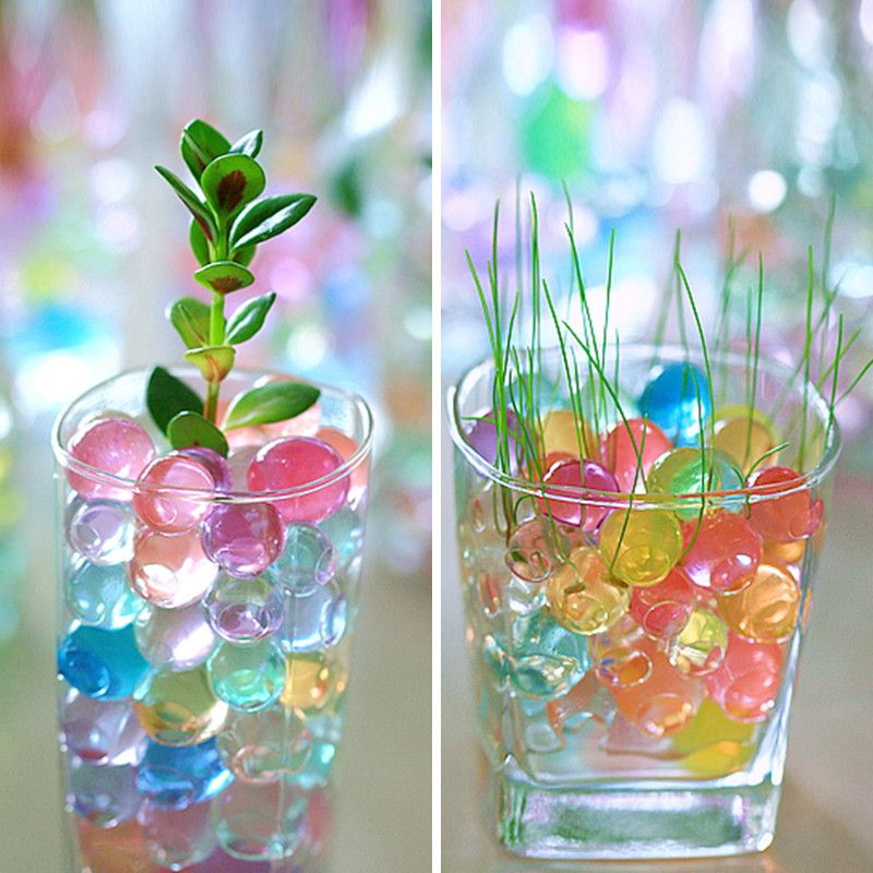 1000PCS Magical Plant Growing Balls Crystal Gardening Water Beads Wedding Decor