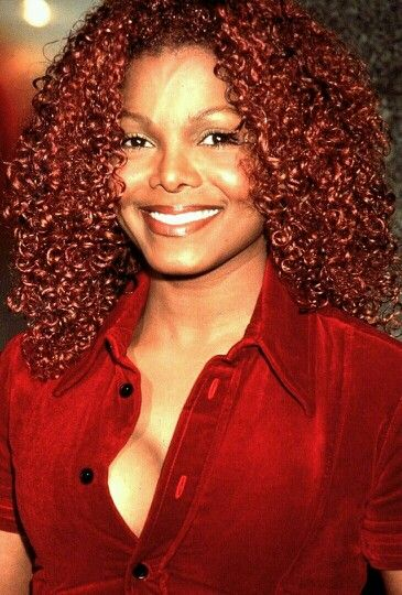 Janet Redded Out Red Hair Red Shirt Janet Jackson Jackson Jo Jackson
