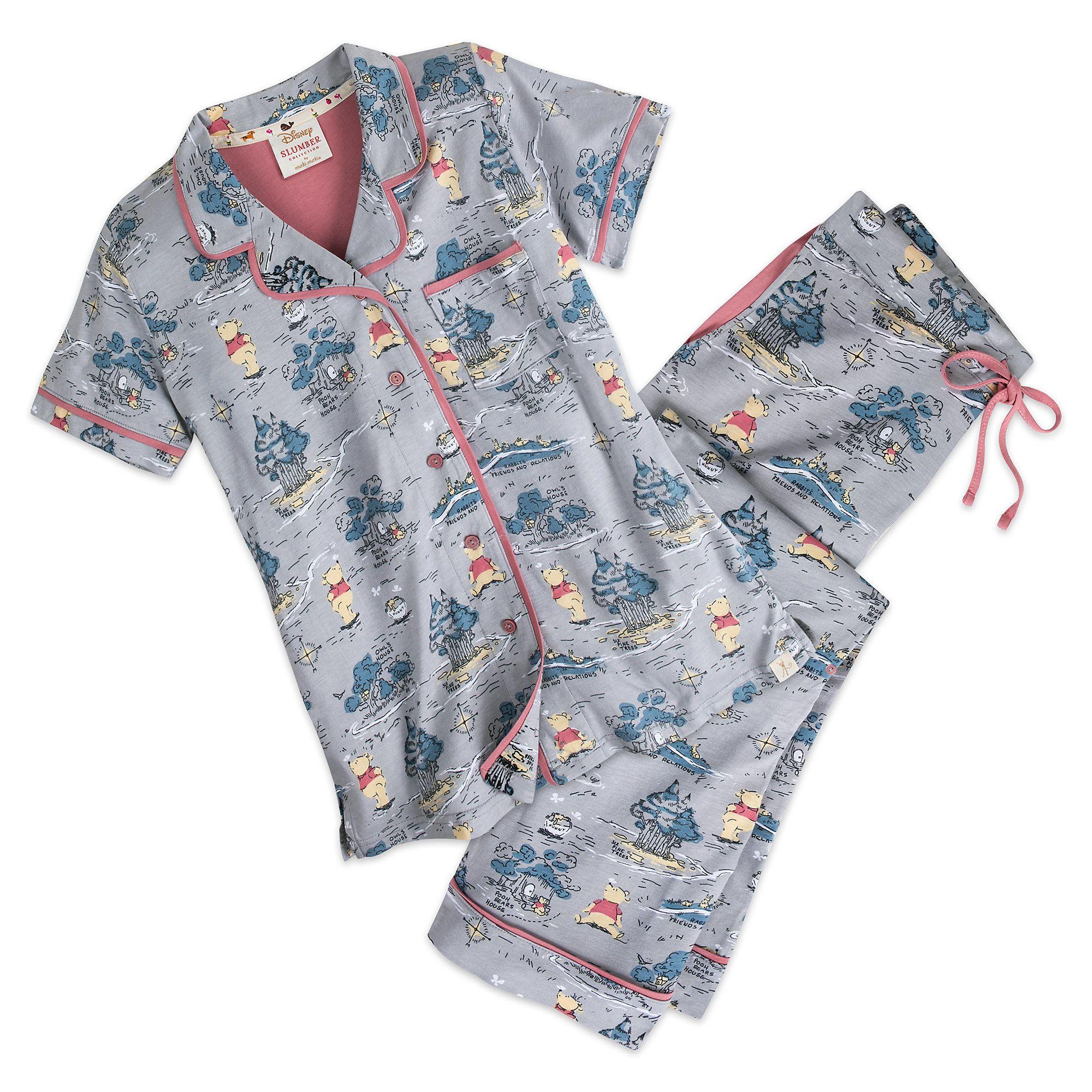 Winnie the Pooh Knit Pajama Set for Women by Munki Munki®  3628c2bda