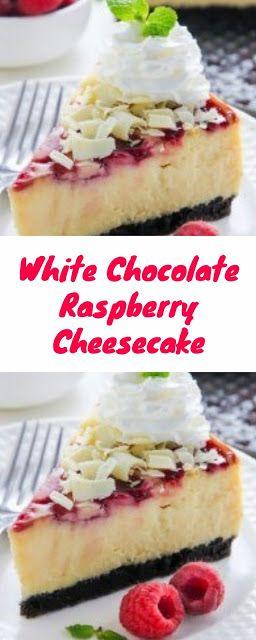 White Chocolate Raspberry Cheesecake | Dessert Recipe #whitechocolateraspberrycheesecake