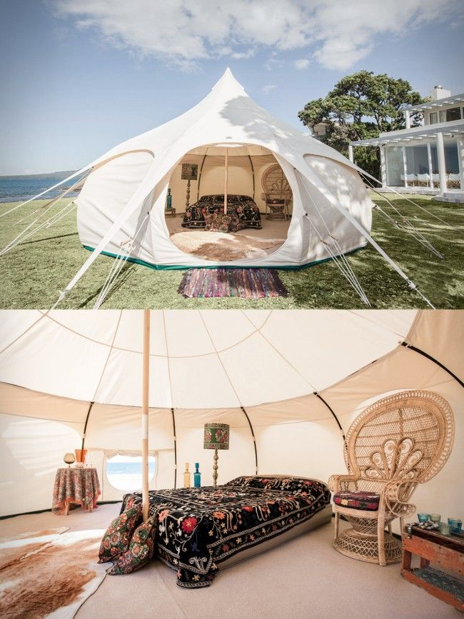 The Lotus Belle Is A Brand New Approach To Luxury Camping Combining The Best Qualities Of The Bell Tent And The Yurt It S Stronger More Water Tent Camping Lotus Belle