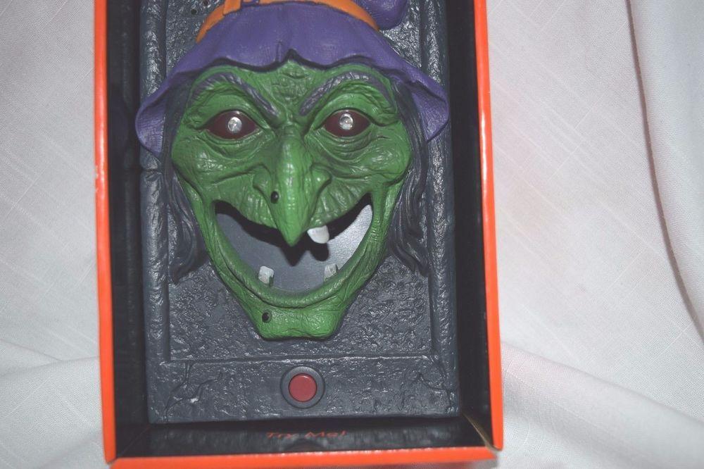 Door Bell Haunted Halloween Prop Animated Doorbell Sound Movement Party Greeter