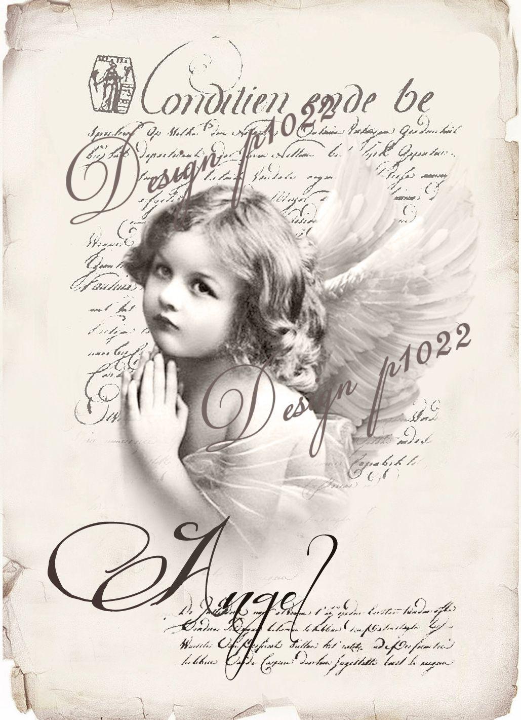 Vintage Angel New Version Digital Collage P