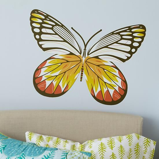 The Land of Nod | Kids\' Room Décor: Colorful White Delia Butterfly ...