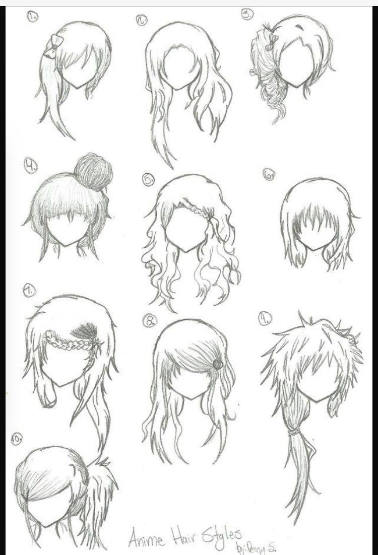 Anime Hair Ideas : anime, ideas, Anime, Ideas, Hair,, Manga