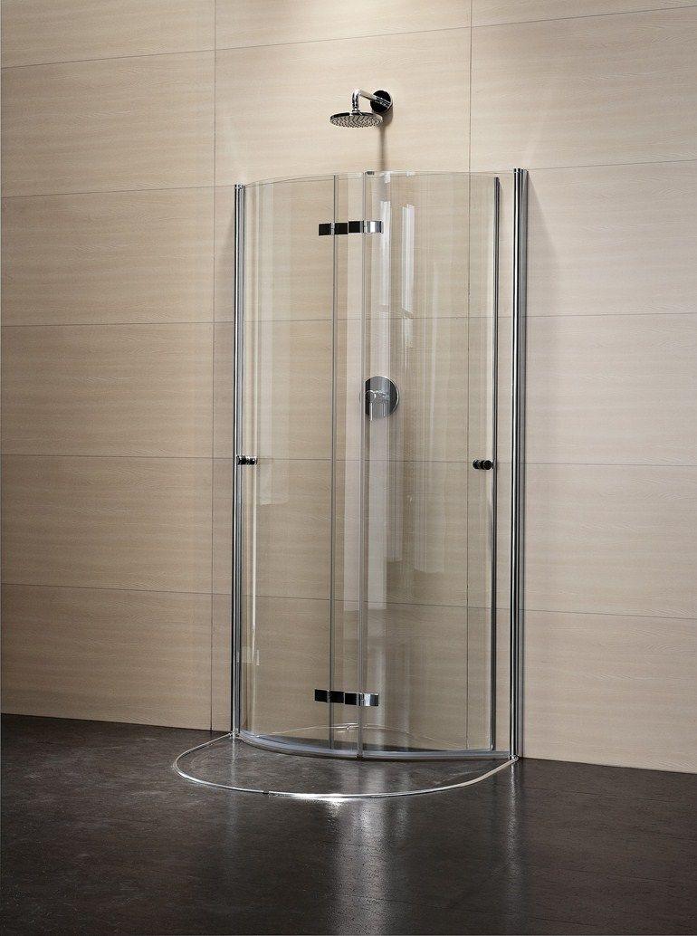 Box doccia semicircolare in cristallo con porte scorrevoli