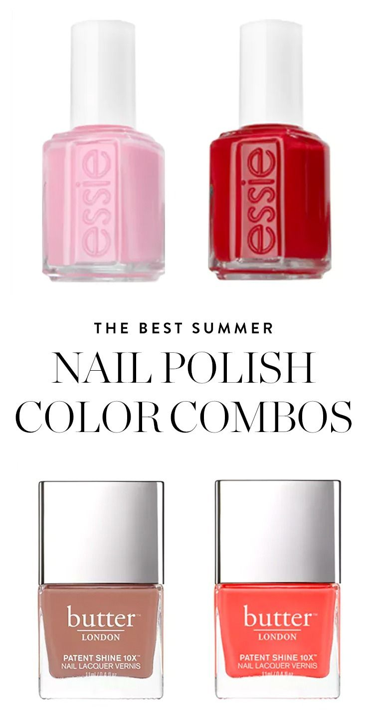 We Ve Picked The Ten Best Summer Nail Polish Color Combos For Fingers And Toes Save These Paint Away