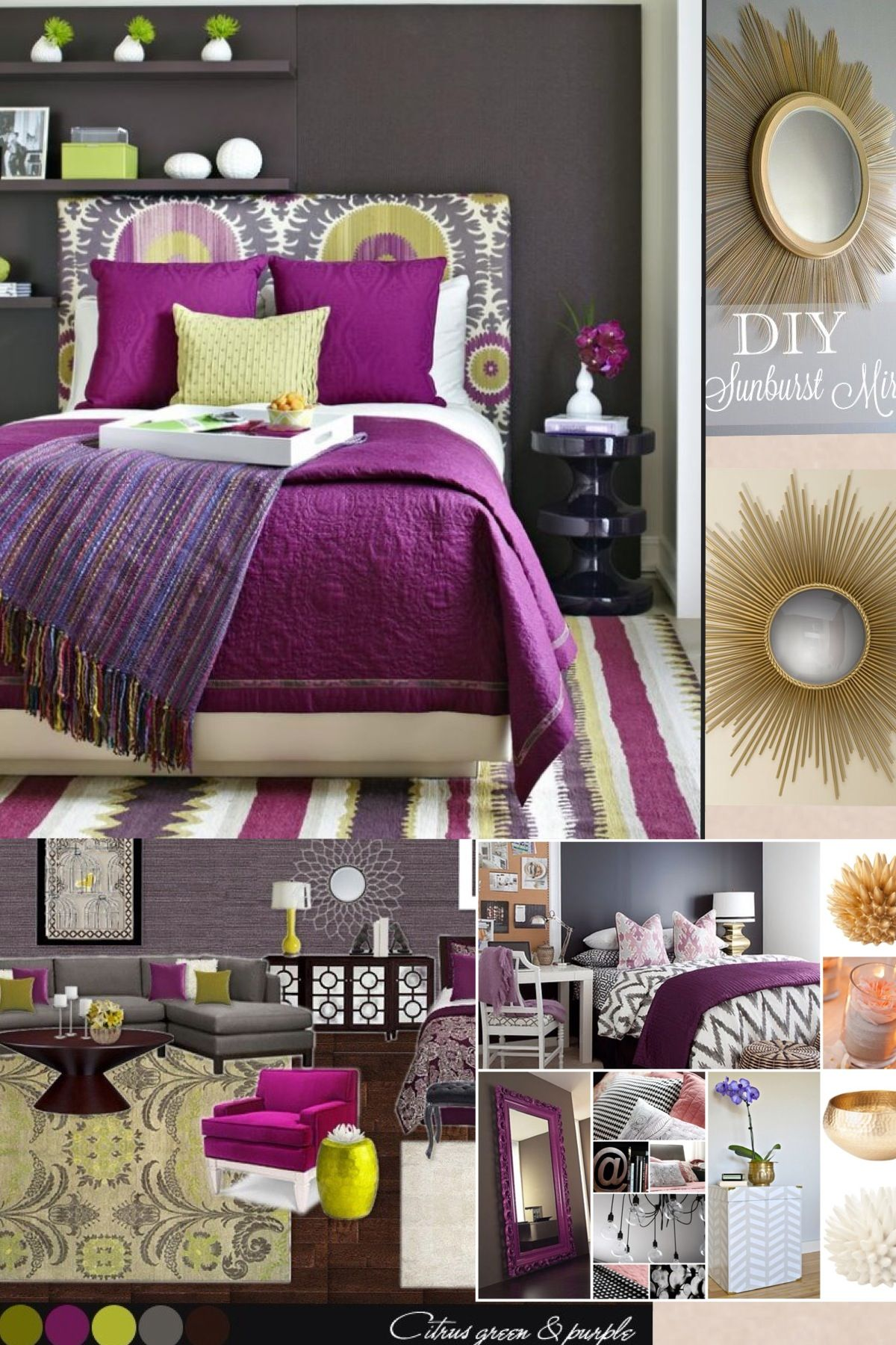 Purple And Green Bedroom Decorating Green And Purple Bedroom Decor Home Decor Pinterest Guest