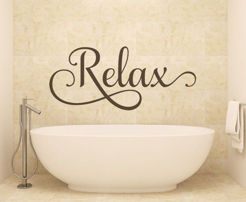 COLORS GET NAKED BATHROOM VINYL DECAL WORDS LETTERING HOME DECOR 30