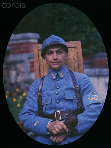 World War I. French soldier (France). Autochrome. Ca. 1918.