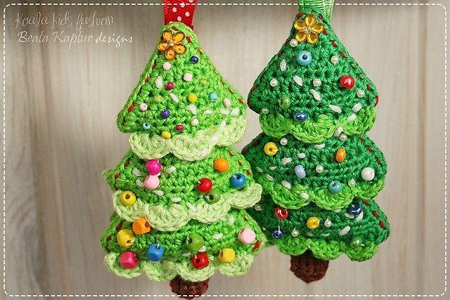 Crochet Pattern - Christmas Tree Ornament - eBook/pdf pattern $390