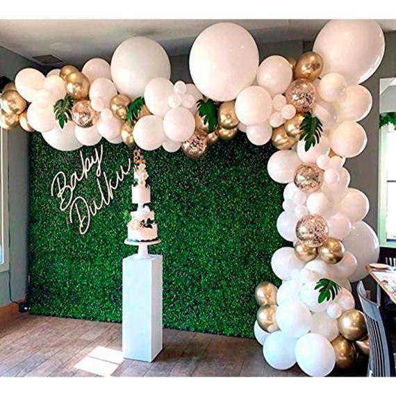 16ft lange Girlande Arch Kit weiß und gold Latex Luftballons Baby-Dusche Jäten Geburtstag Bachelorette p - # Dusche #Geburtstag #Garlande #Jaten #l