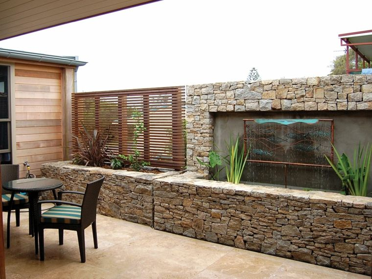 Revestimiento de paredes exteriores 50 ideas for Impermeabilizar pared ladrillo exterior