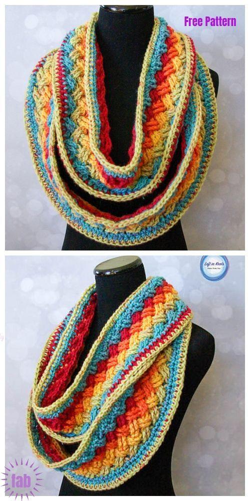 Crochet Celtic Infinity Scarf Cowl Free Crochet Patterns Crochet