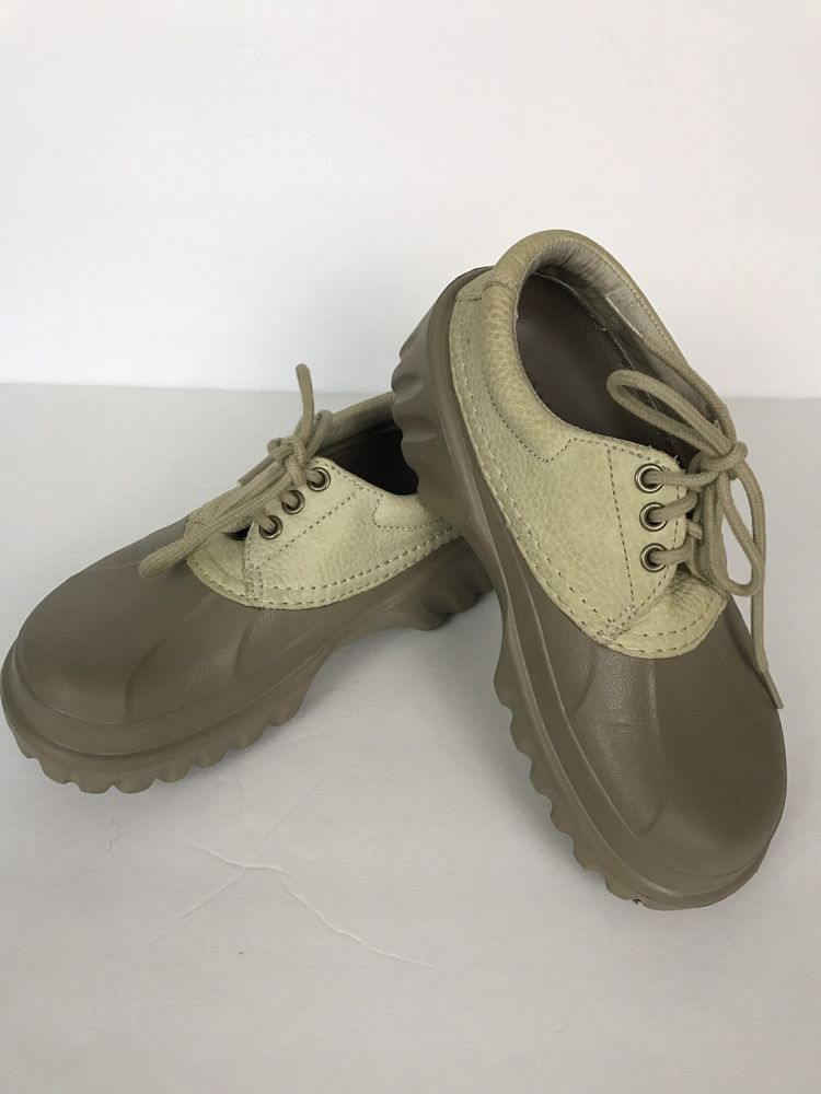 cd7d53aa8 CROCS Islander Deck Boat Shoes Leather Lace Up Tan Sport Sandals Mens 5  Woman 7  Crocs