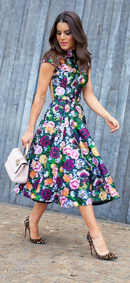 Vestido florido: ideias e dicas para você arrasar Tudo Ela