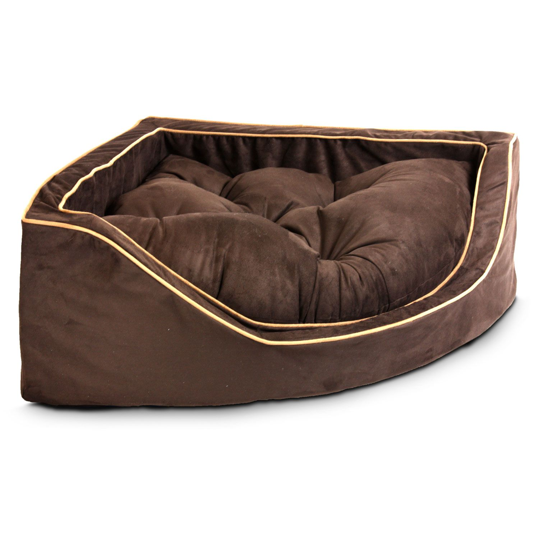 Snoozer Luxury Corner Bed in Hot Fudge with Café Cording