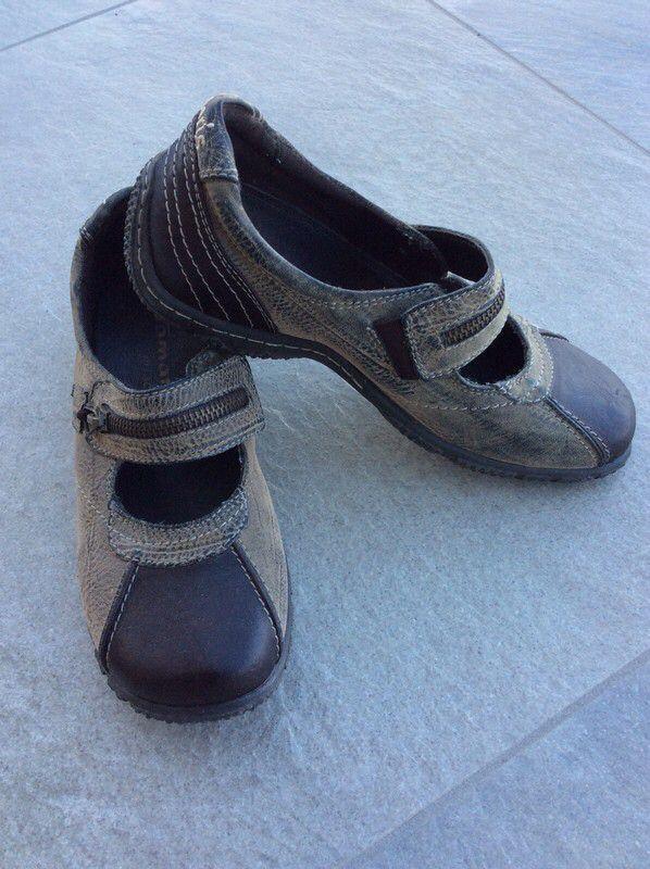 Tolle Tamaris Schuhe Riemenschuhe braun mit Reißverschluß