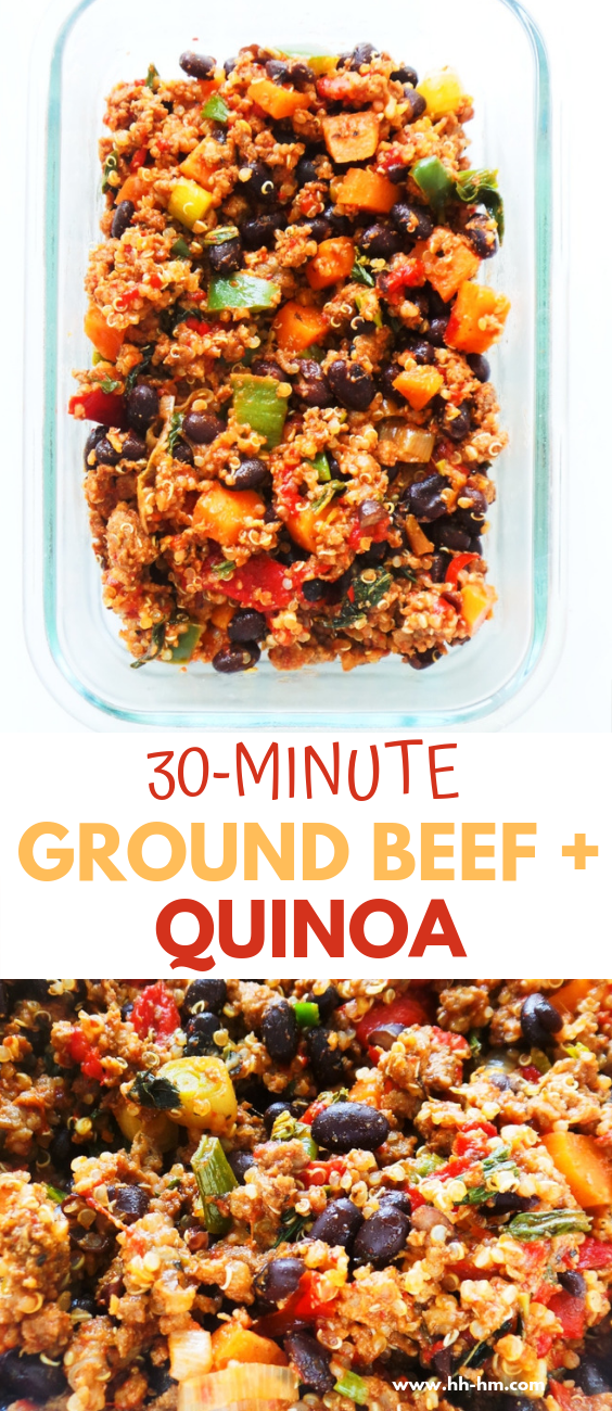 30 Minute Ground Beef Recipe With Quinoa Beans And Vegetables Easy And Healthy D Ground Beef Recipes Easy Dinner With Ground Beef Ground Beef Recipes Healthy