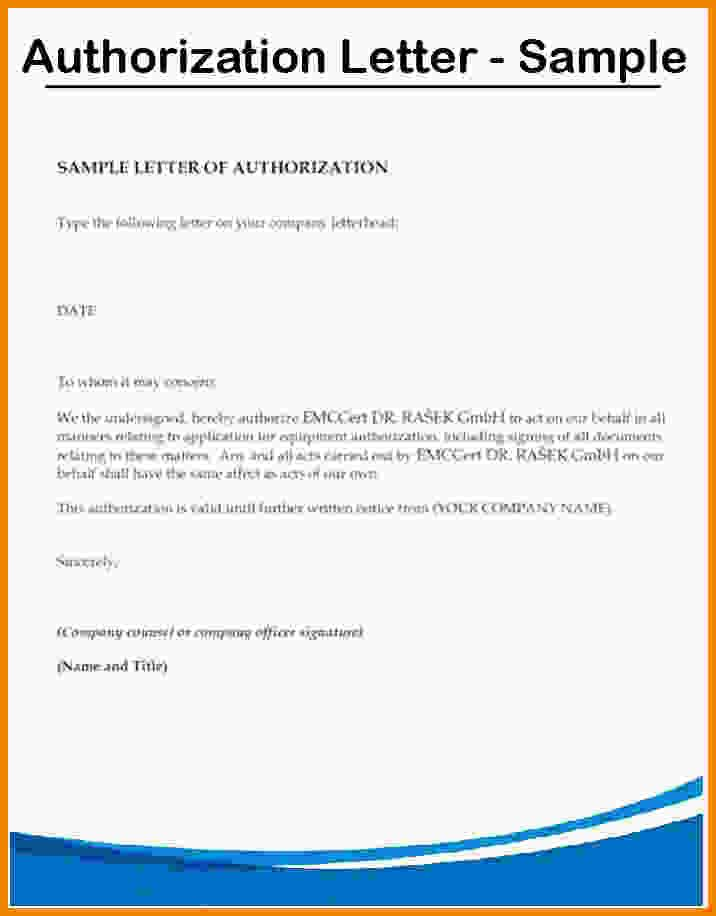 Authorization Letters Sample Authorization Letter Samples Free