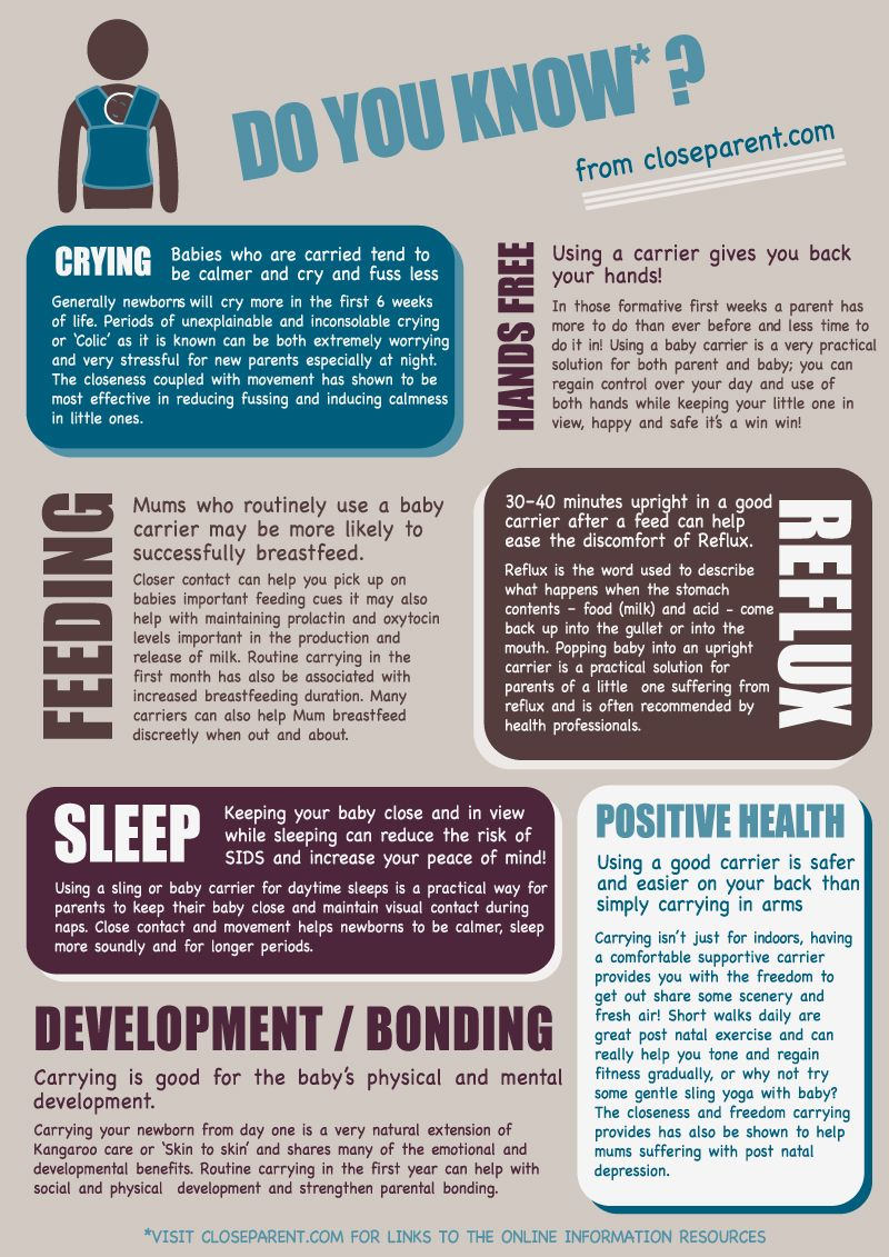 70c8e2985 Benefits of babywearing in a sling   baby carrier info graphic ...