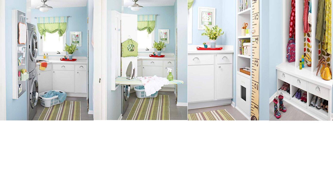 Cute Room Crafts: Cute Huh :) Laundry / Craft Room/ Mudroom From BHG