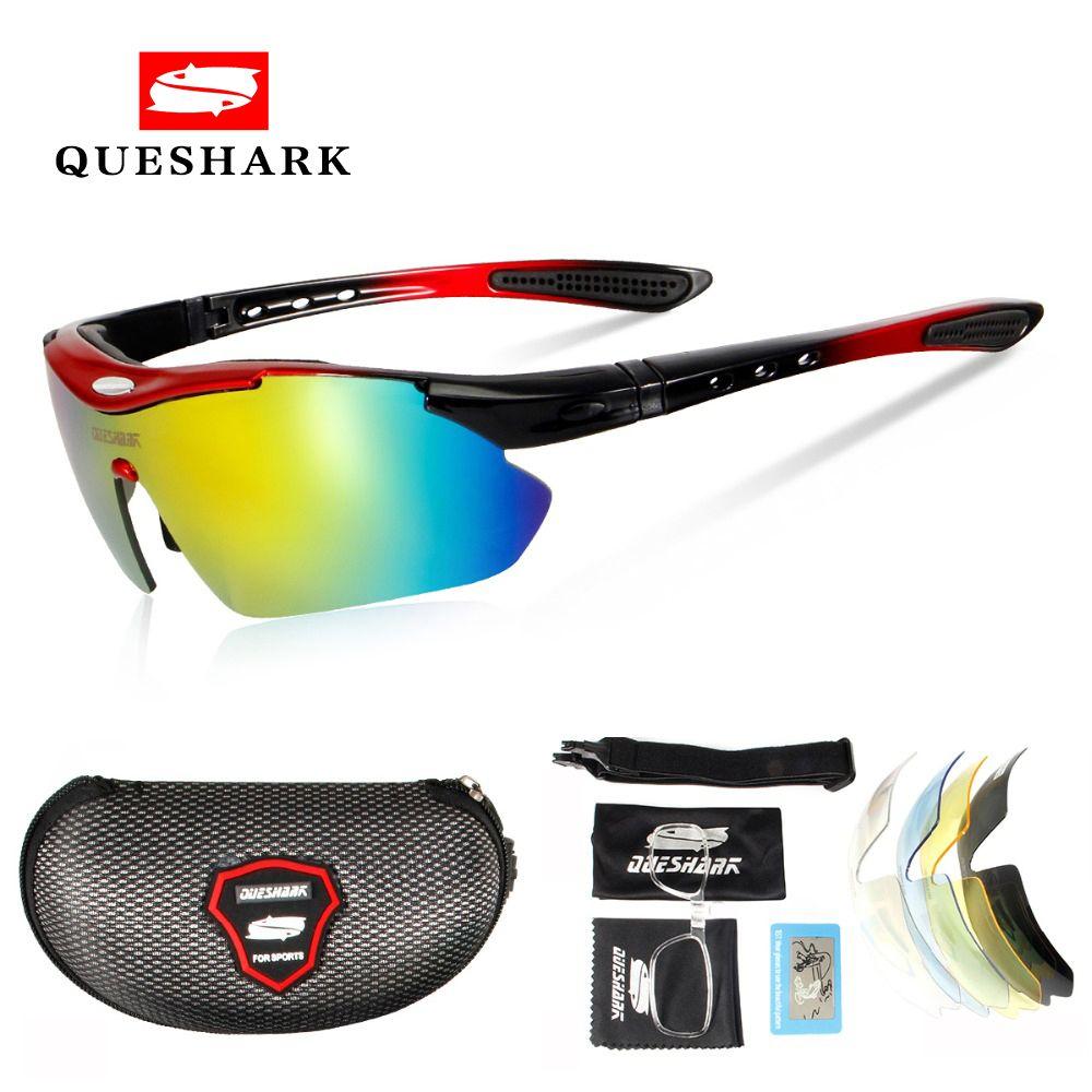 Queshark Polarized Cycling Sunglasses Bike Racing Bicycle