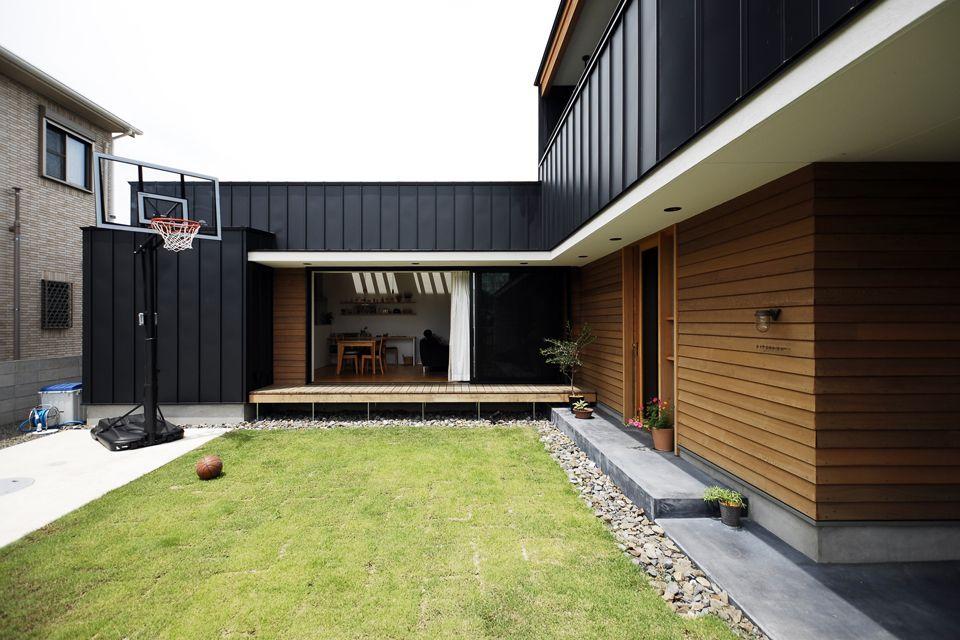 えるじのいえ 画像あり 住宅 外観 モダンハウスデザイン L字の家