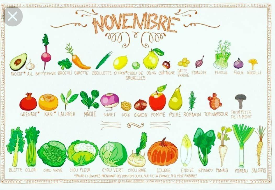 Fruits et légumes de novembre pour consommer malin et de saison   #alimentationb...