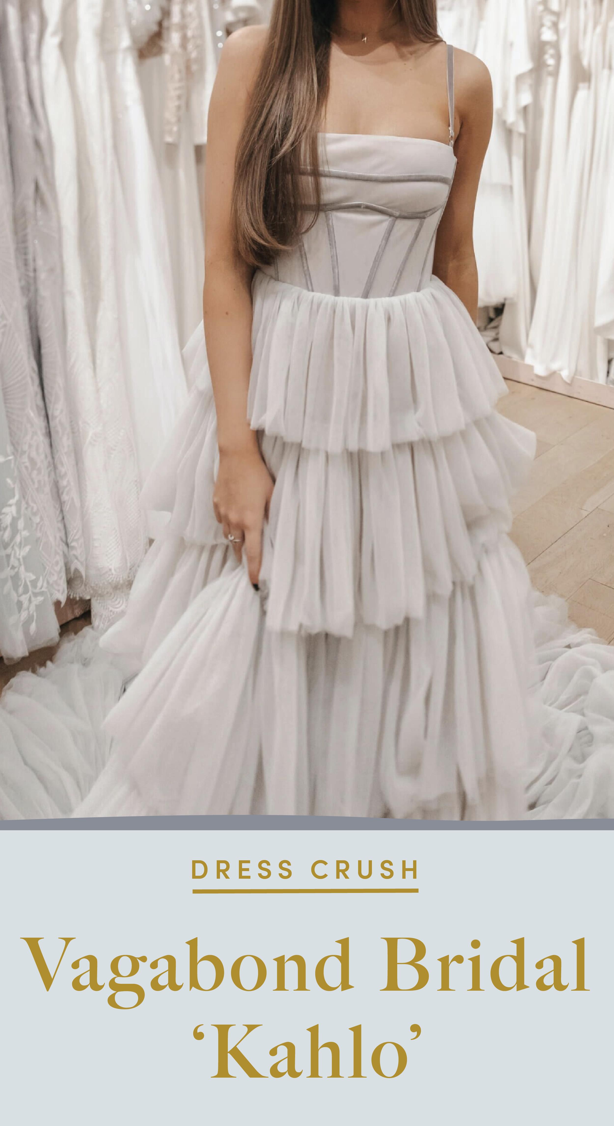 Vagabond Kahlo Grey Wedding Gown At Lovely Bride Wedding Dresses Unique Wedding Dresses Colored Wedding Dress [ 4585 x 2501 Pixel ]