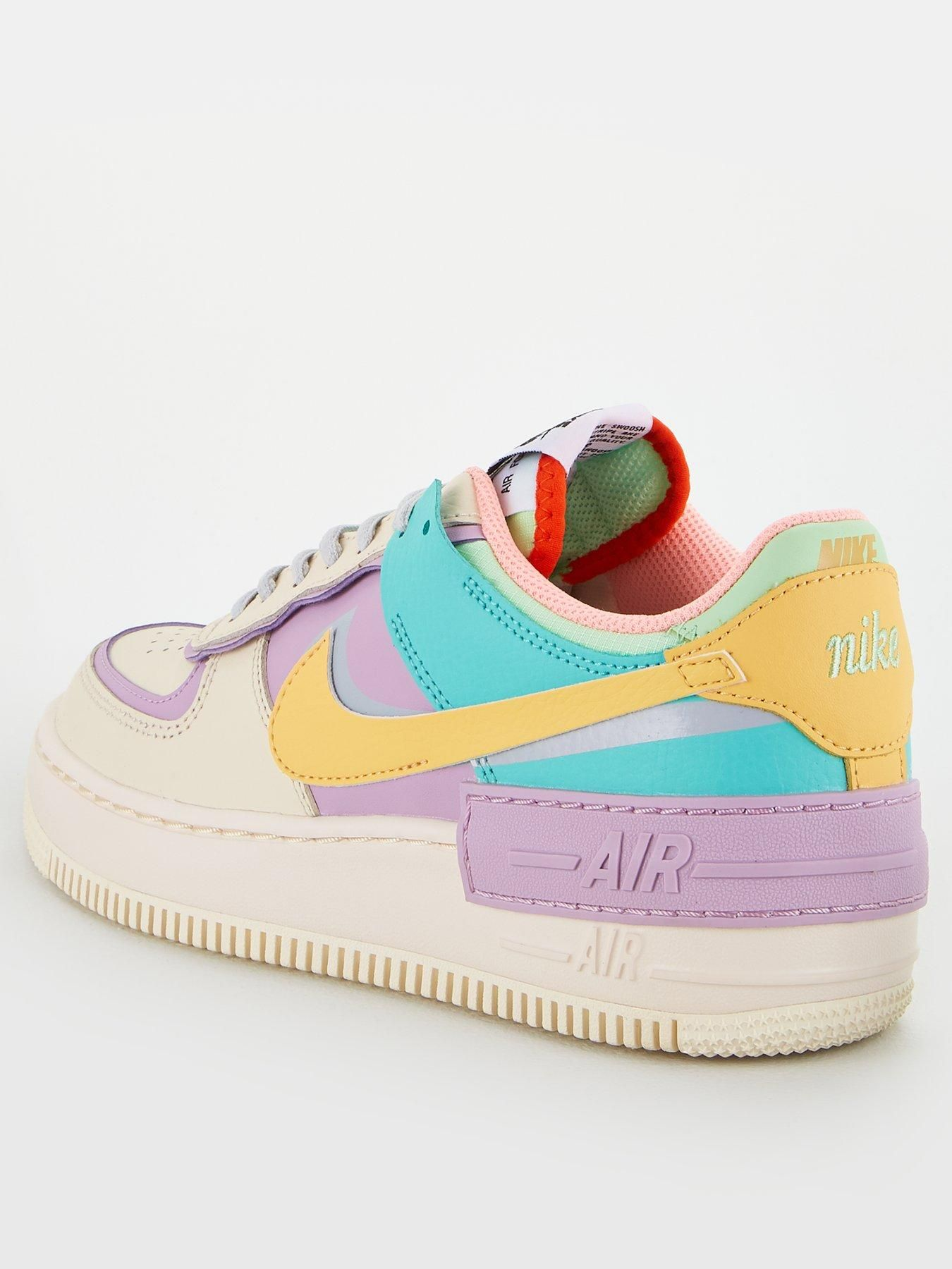 Nike Af1 Shadow White/Gold , White/Gold, Size 8, Women