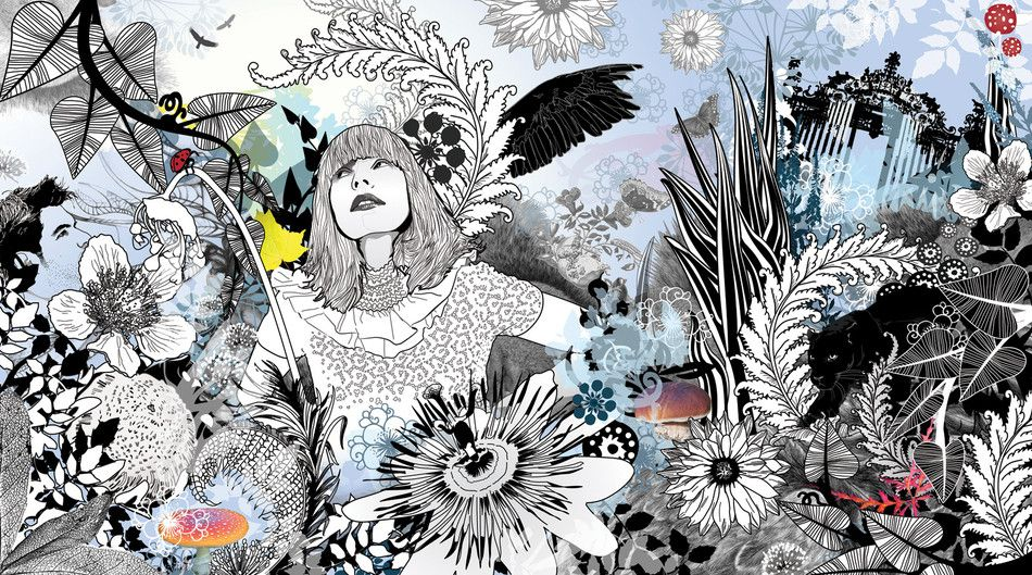 Woman In Forest Art, Illustration, Detail art