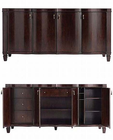 Whitney Serpentine Sideboard Family Room Remodel Tv