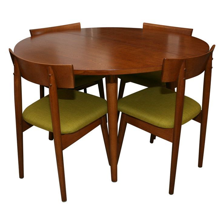 1950 S Dining Table With 4 Chairs By Conant Ball Rus Wright