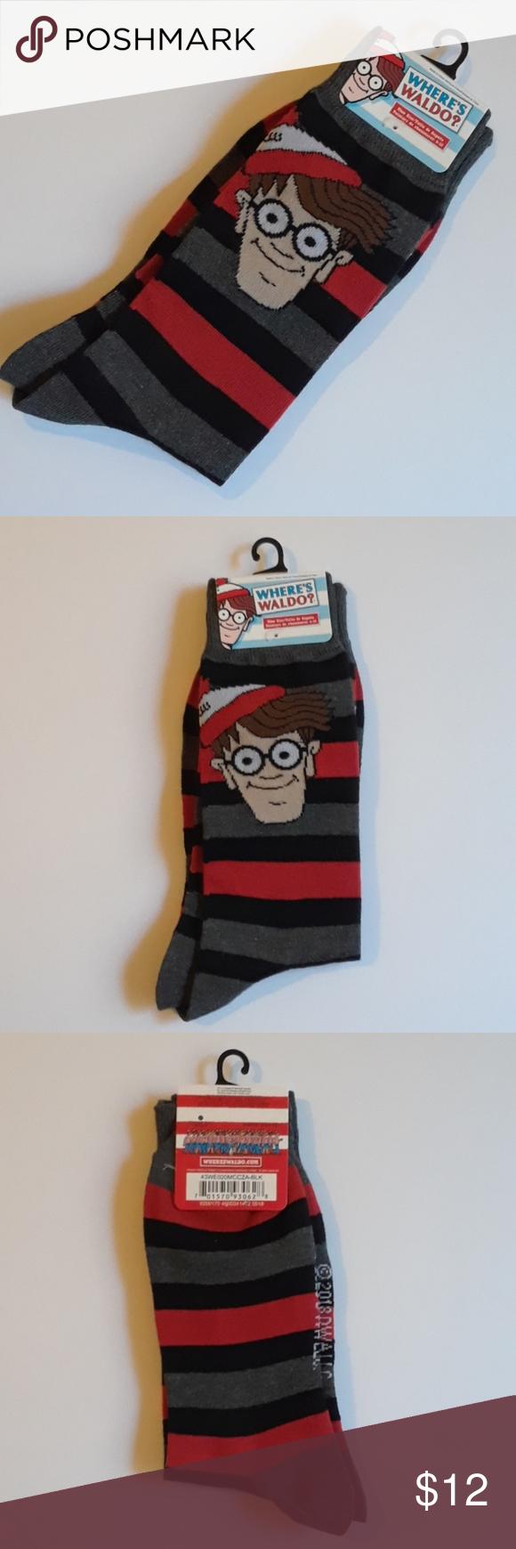 b6175663 Where's Waldo socks RARE Where's Waldo socks Great gift where's ...