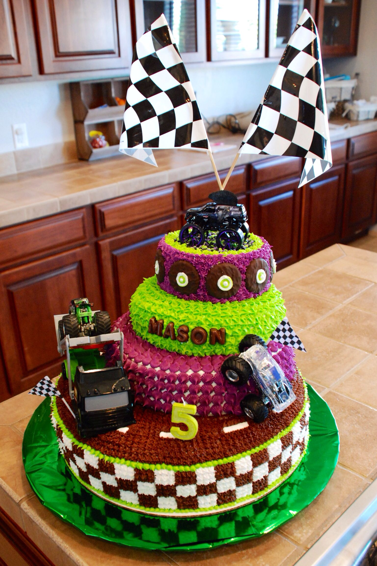 Monster Truck Grave Digger cake This ones for the boys