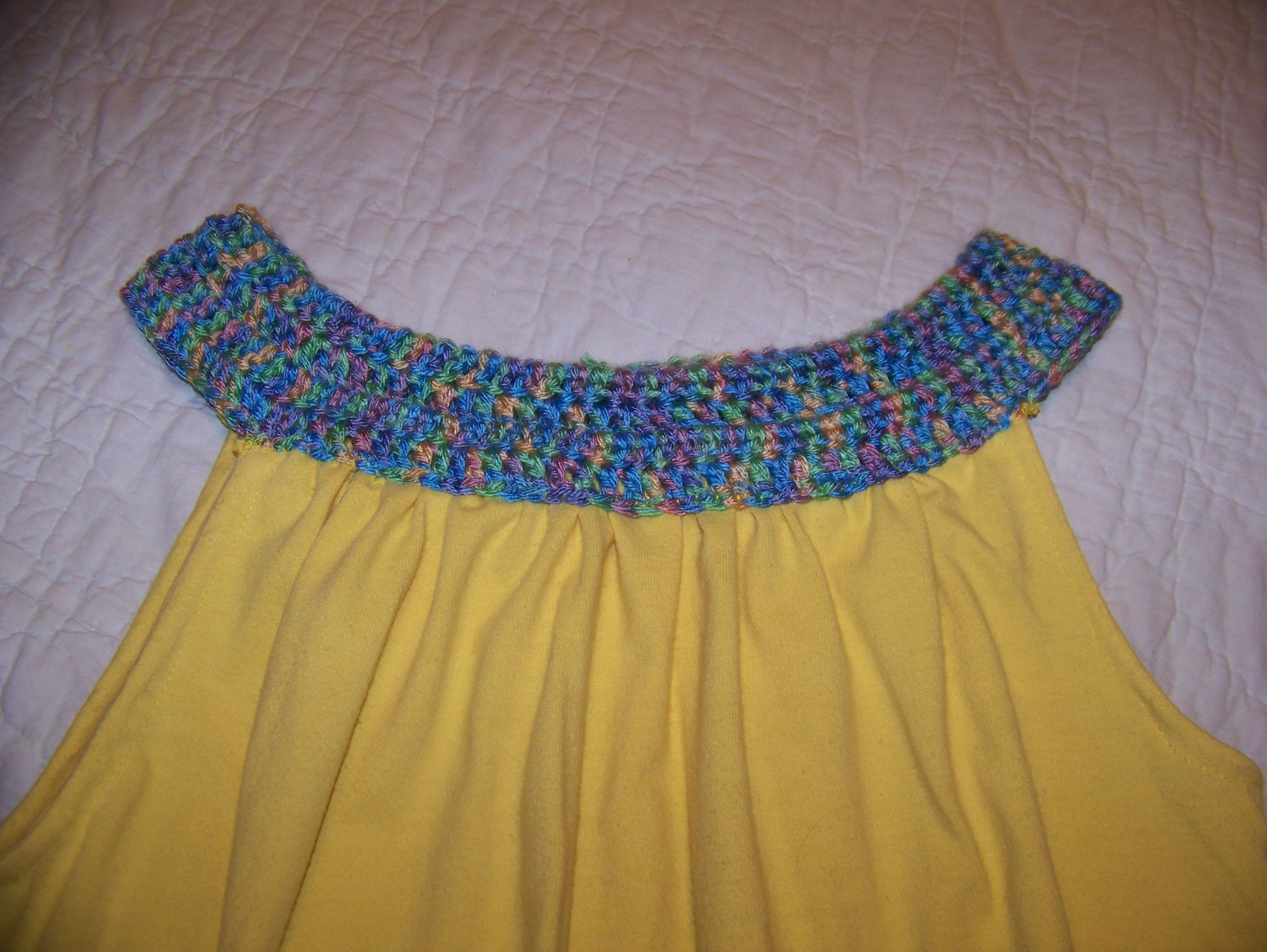 This is a crochet peter pan collar added to the t shirt refashion this is a crochet peter pan collar added to the t shirt refashion pattern bankloansurffo Image collections