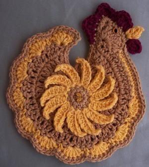 Crochet Chicken Potholder Decoration