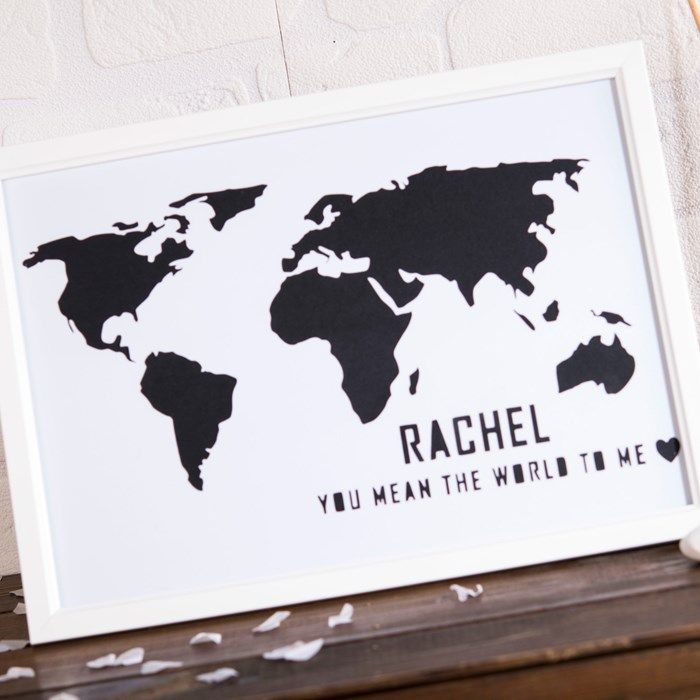 Personalised papercut world map framed print gettingpersonal personalised papercut world map framed print gettingpersonal gumiabroncs Images