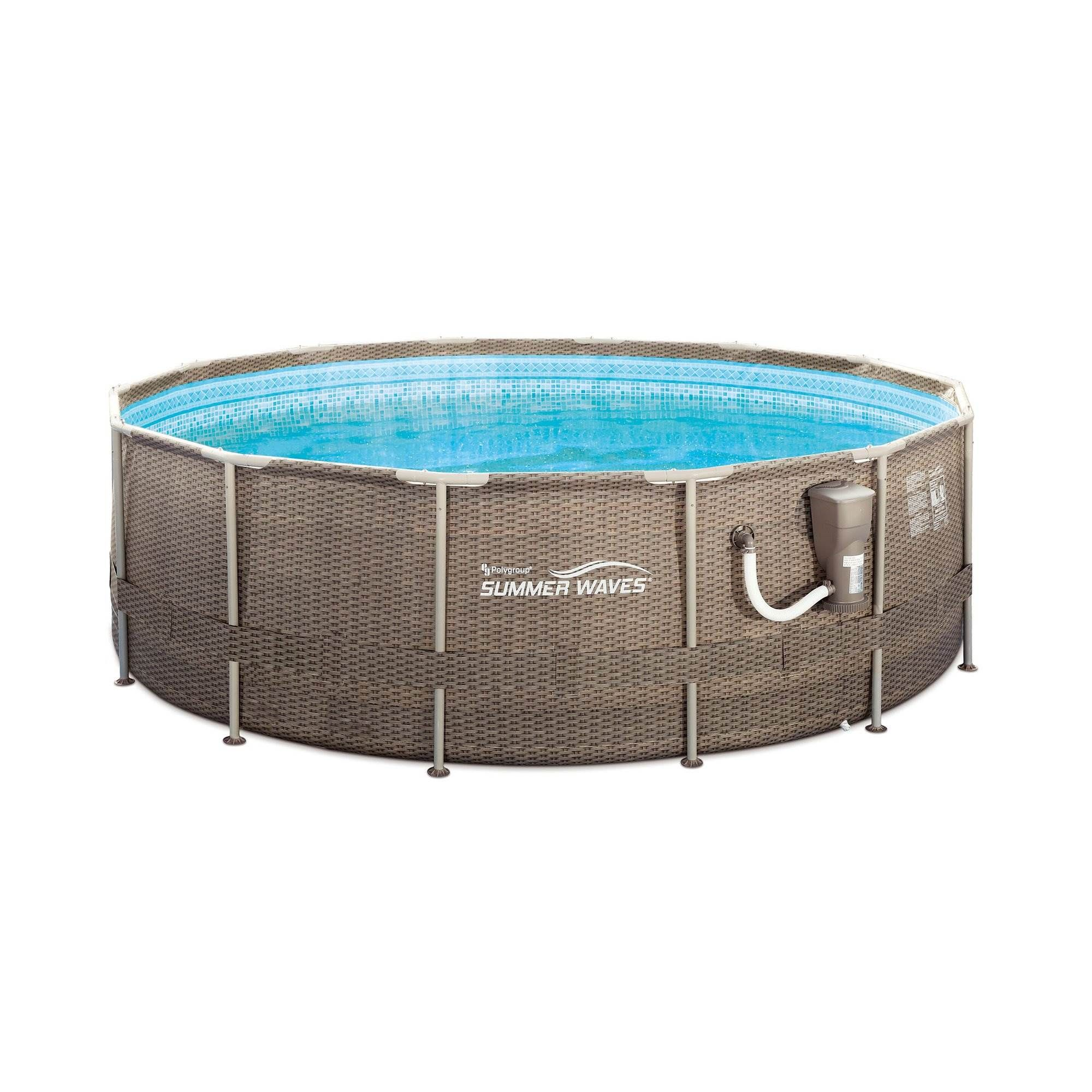 Summer Waves 14ft X 48in Frame Outdoor Swimming Pool With Ladder And Pump Walmart Com In 2020 Summer Waves Swimming Pools Outdoor Swimming Pool