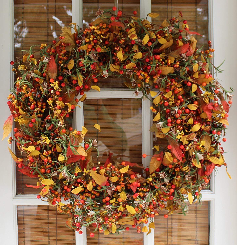 Gorgeous Appalachia Berry Fall Door Wreath   22 inch ...